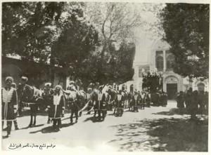 مراسم تشییع جنازه ناصرالدین شاه قاجار