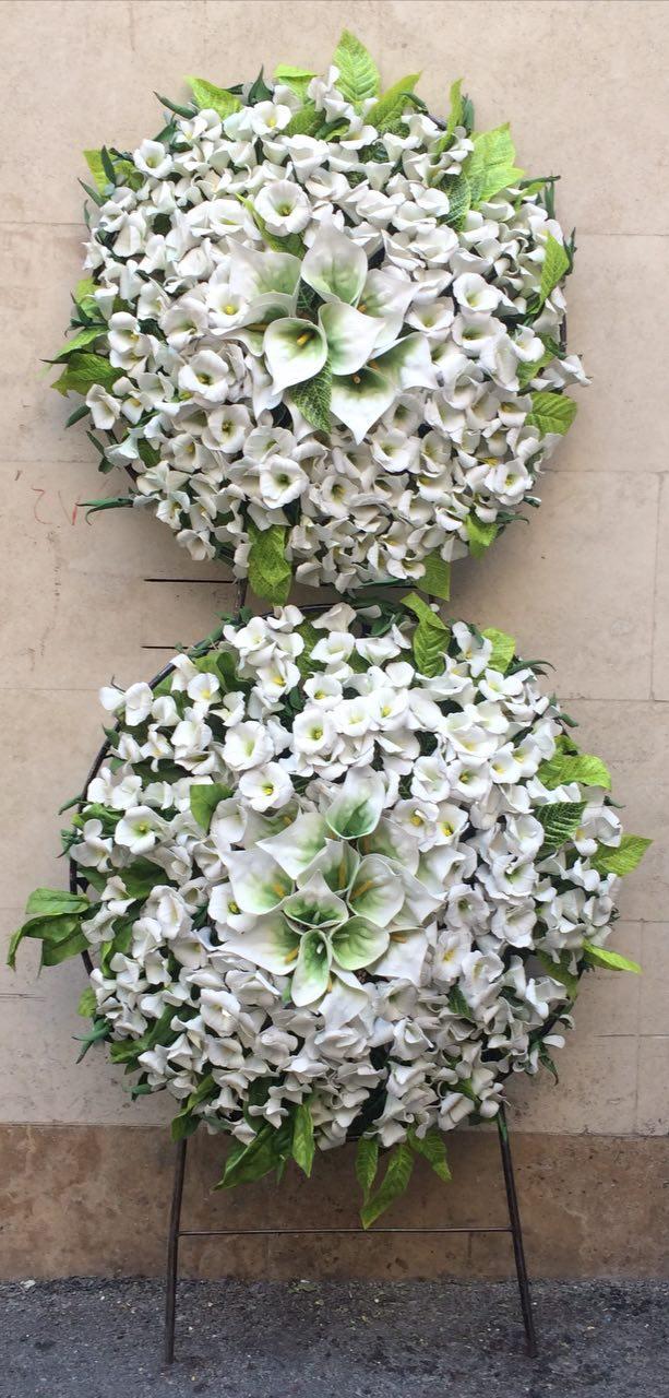 نمونه تاج گل مصنوعی موسسه خیریه ولیعصر