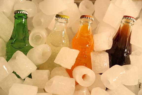 یخ بهداشتی استکانی