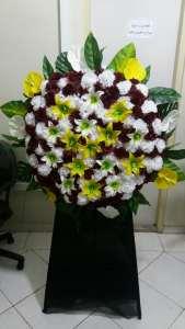 تاج گل خیریه و استند تسلیت موسسه خیریه موسسه خیریه مهرگستر