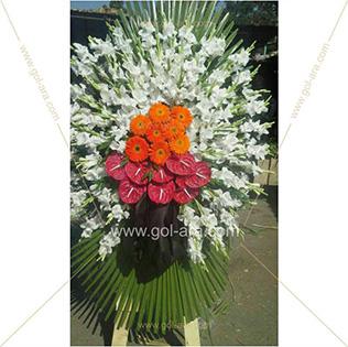 تاج گل فروشی و قبول سفارش تاج گل برای مراسم ترحیم
