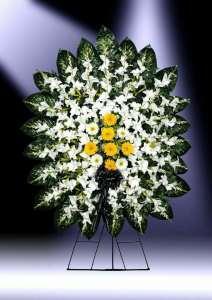 تاج گل- تاج گل ترحیم-سفارش تاج گل خیریه-تاج گل مصنوعی-گل مراسم ترحیم