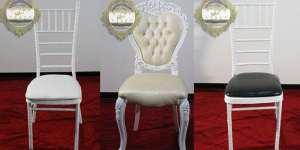 نمونه صندلی های تشریفات مجالس و ظروف کرایه آریان