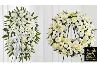 تاج گل ختم سبک اروپایی و تاج گل اینترنتی