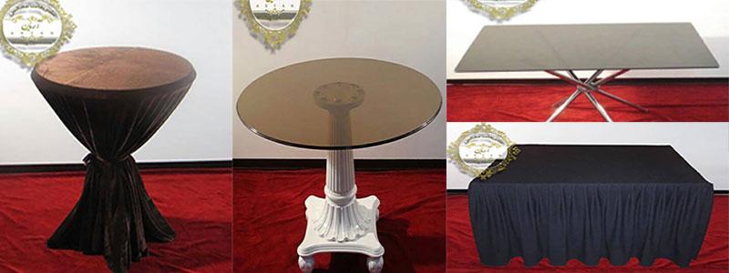 نمونه میز های تشریفات مجالس و ظروف کرایه آریان