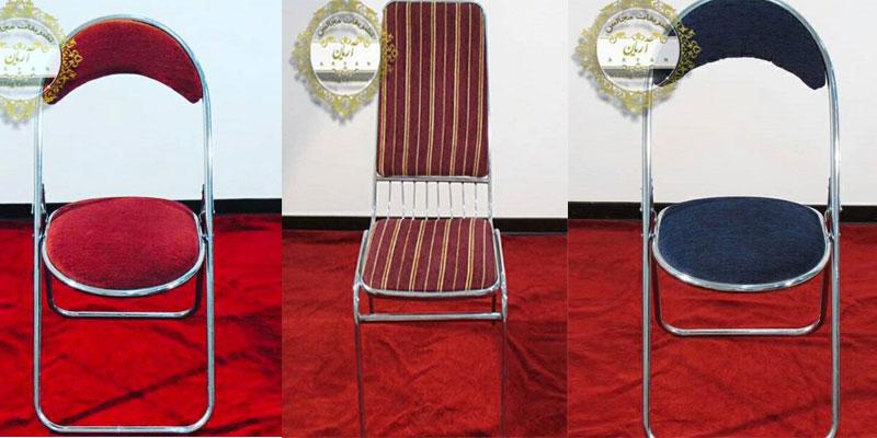 نمونه صندلی های تاشو تشریفات مجالس و ظروف کرایه آریان