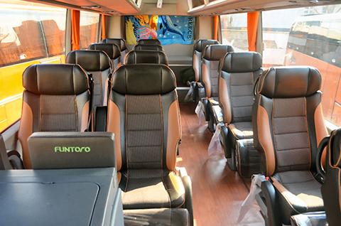 کرایه اتوبوس بهشت زهرا اتوبوس تشریفاتی 25 نفره - عکس داخل اتوبوس وی آی پی