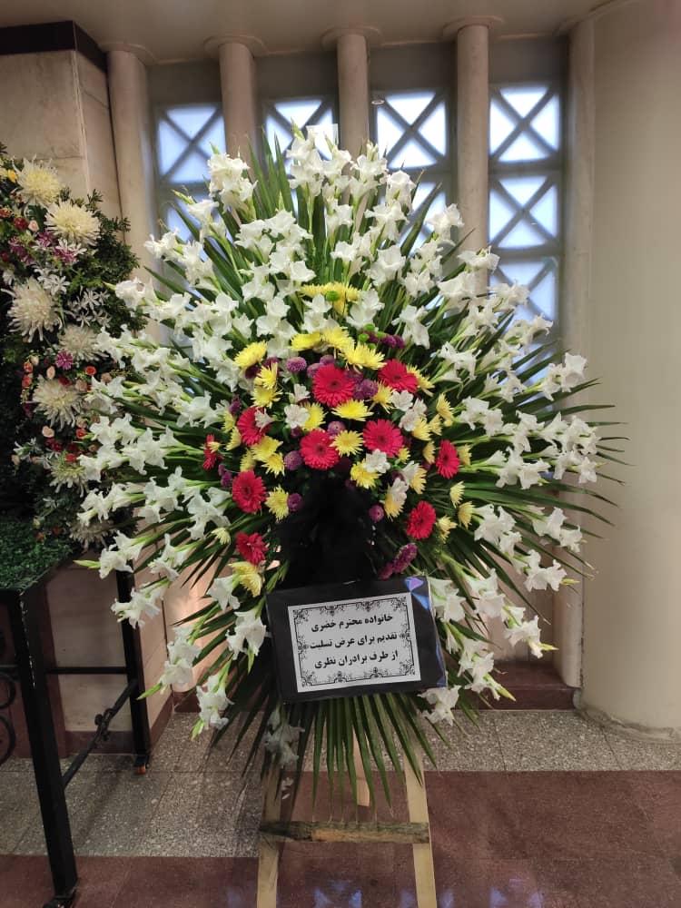تاج گل مناسبتی یک طبقه
