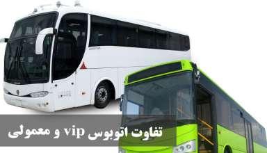 تفاوت اتوبوس معمولی و اتوبوس vip تشریفاتی