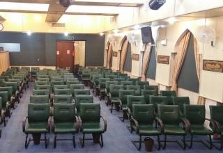 رزرو مسجد پیامبر اعظم منطقه سعادت آباد جهت برگزاری مراسم ختم نمای 180 درجه محیط داخل مسجد