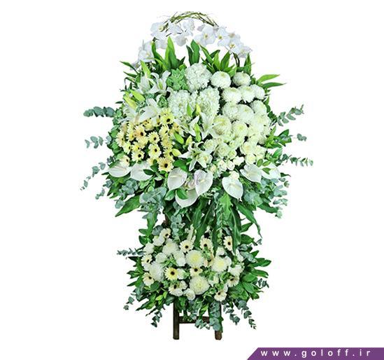 سفارش تاج گل دو طبقه در اصفهان مناسب برای عرض تسلیت