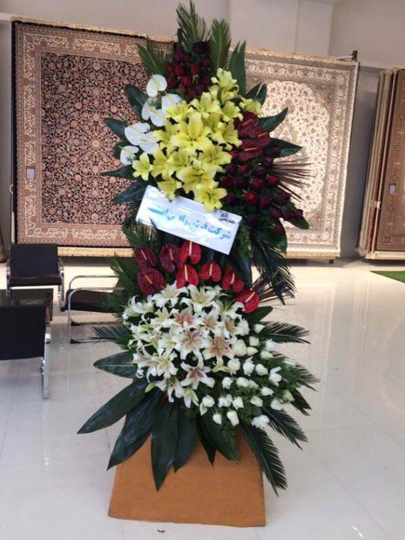 تاج گل ترحیم دو طبقه در شیراز